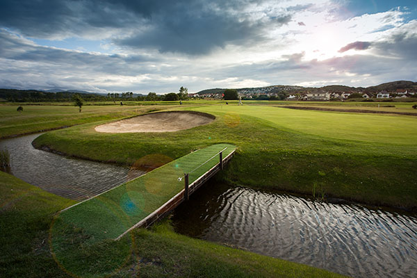 18th Hole at Rhos-on-Sea Golf Club