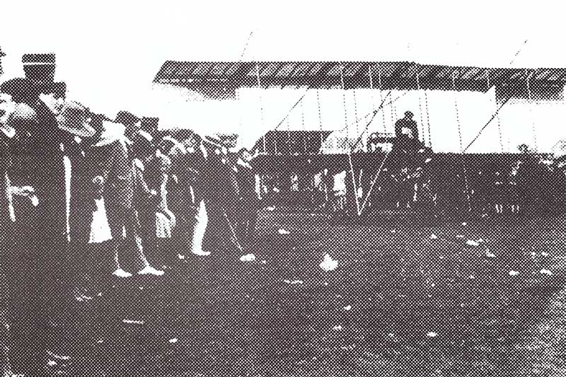 Bi-plane at Rhos-on-Sea Golf Club