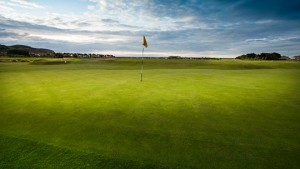 Hole 1 at Rhos-on-Sea Golf Club North Wales