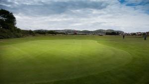 Hole 13 at Rhos-on-Sea Golf Club