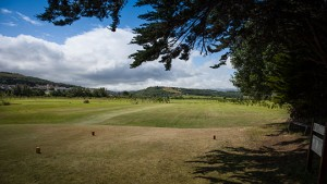 Hole 16 at Rhos-on-Sea Golf Club
