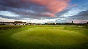 Hole 9 at Rhos-on-Sea Golf Club