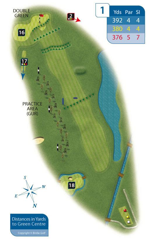 Hole 1 at Rhos-on-Sea Golf Club