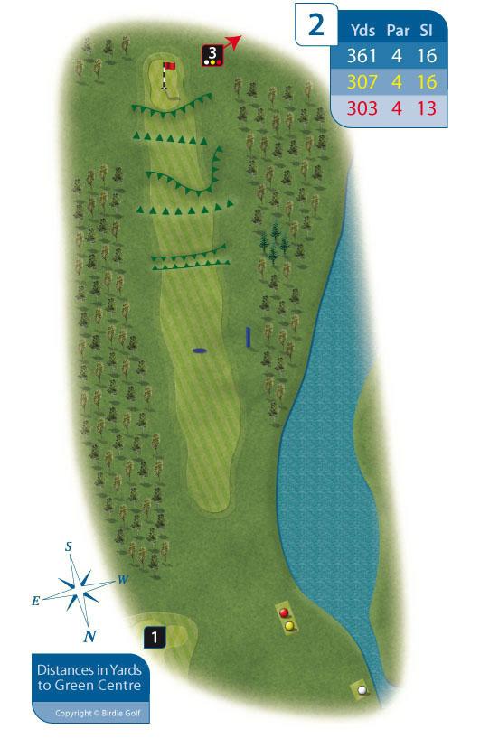 Hole 2 at Rhos-on-Sea Golf Club