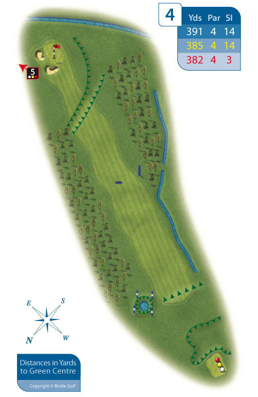 Hole 4 at Rhos-on-Sea Golf Club