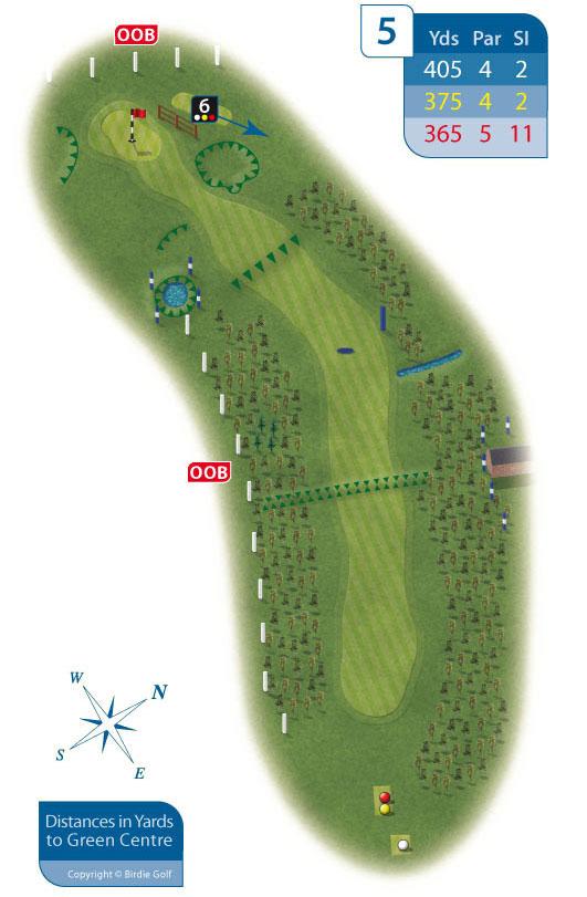 Hole 5 at Rhos-on-Sea Golf Club