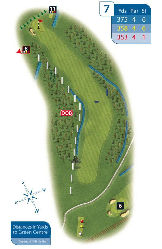 Hole 7 at Rhos-on-Sea Golf Club