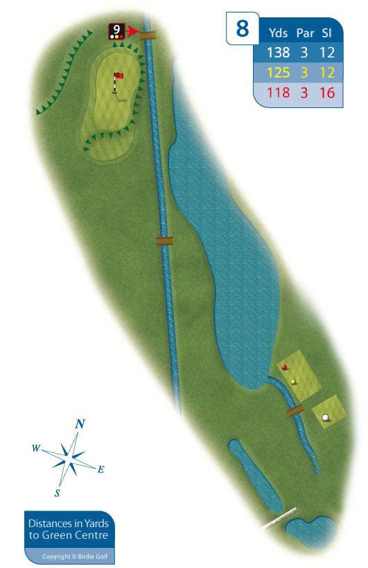 Hole 8 at Rhos-on-Sea Golf Club