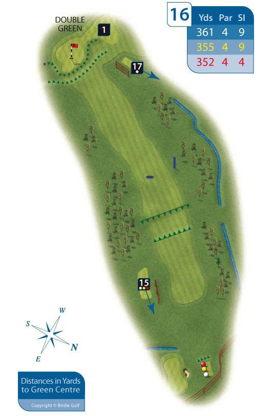 Hole 16 at Rhos-on-Sea Golf Club