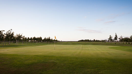Hole 2 at Rhos-on-Sea Golf Club