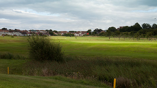 Hole 14 at Rhos-on-Sea Golf Club