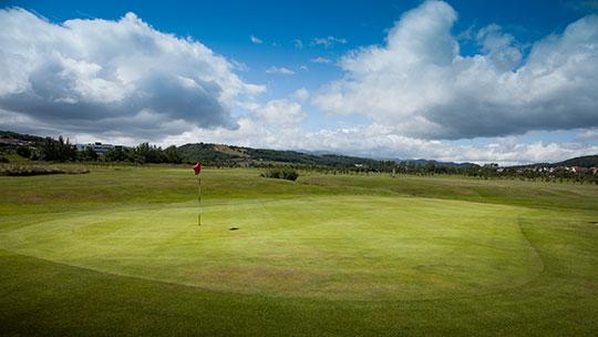 Hole 15 at Rhos-on-Sea Golf Club