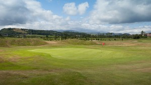 Hole 17 at Rhos-on-Sea Golf Club